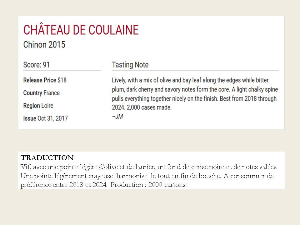 Château de Coulaine Rouge 2015